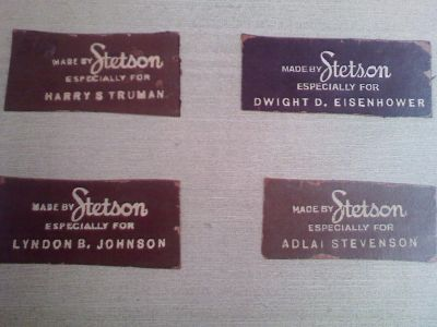 Presidential Hat labels