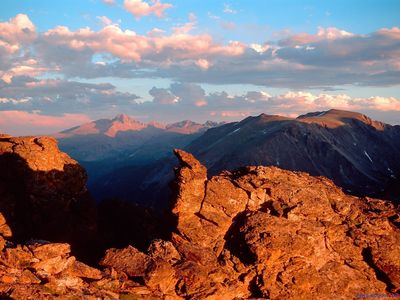 Sunset on Long's Peak, Rocky Mountain National Park, Colorado