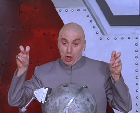 Sadly, Dr. Evil did not make the list.